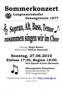 plakat sommerkonzert 2010